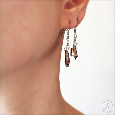 FHUNG artistmade's Copper Earrings : EA2016004